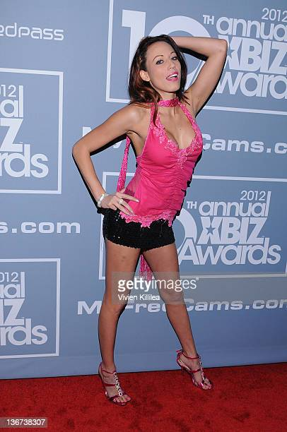 Layla River attends the 10th Annual XBIZ Awards at The Barker Hanger on January 10 2012 in Santa Monica California