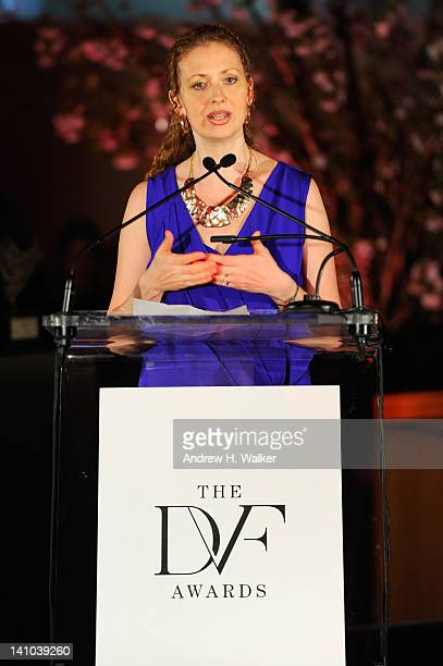 Layli MillerMuro speaks onstage at the 3rd annual Diane Von Furstenberg awards at the United Nations on March 9 2012 in New York City