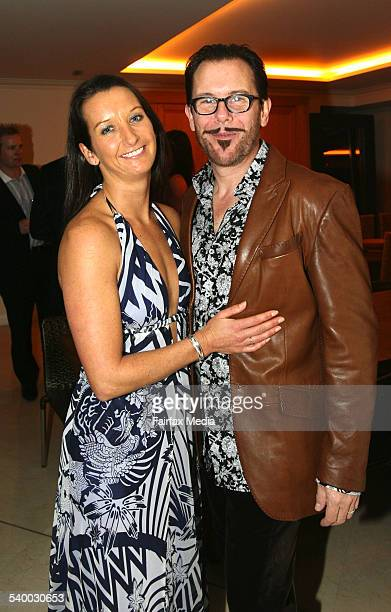 Layne Beachley and Kirk Pengilly at the ChivaSom 'Haven in Life' cocktail party at Circular Quay Sydney 25 July 2006 SHD Picture by JANIE BARRETT