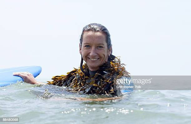 CARPINTERIA CA JUNE 13 Layne Beachley during the Oakley Learn to Ride fueled by Muscle Milk Surf Camp at Carpinteria State Beach in Carpinteria CA on...