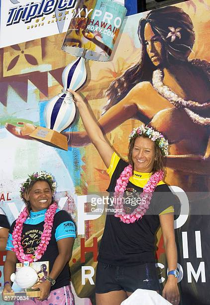 Layne Beachley handed over her ASP World Qualifying Series championship title at the Roxy Pro Haleiwa in Haleiwa Hawaii Although Beachley lost her...