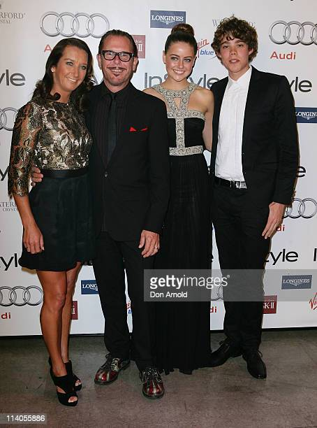 Layne Beachley Kirk Pengilly April Rose Pengilly and Tim Commandeur arrive for the Women of Style Awards at Australian Technology Park on May 11 2011...