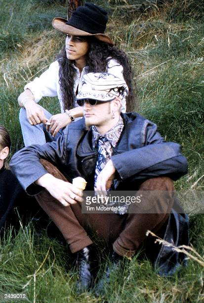 Layne Staley and Mike Inez of Alice in Chains backstage at Lollapalooza 93 at Shoreline Amphitheater in Mountain View Calif on June 23rd 1993 Photo...