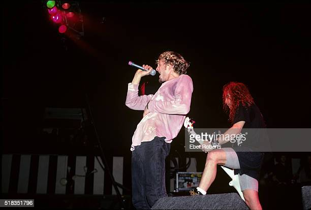 Layne Staley and Mike Starr of Alice In Chains performing at Roseland in New York City on November 24 1992