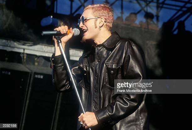 Layne Staley of Alice in Chains performing at Lollapalooza 93 at Shoreline Amphitheater in Mountain View Calif on June 23rd 1993 Photo by Frank...