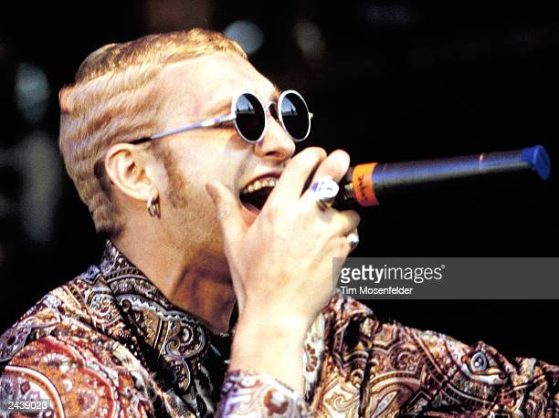 Layne Staley of Alice in Chains performing at Lollapalooza 93 at Shoreline Amphitheater in Mountain View Calif on June 23rd 1993 Photo by Tim...