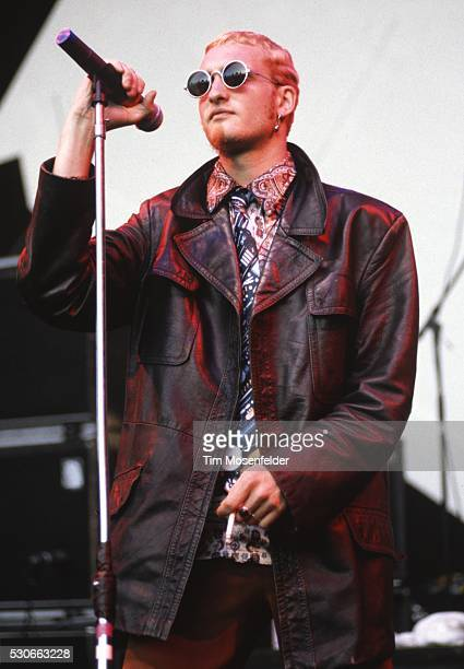 Layne Staley of Alice in Chains performs as part of Lollapalooza 1993 at Shoreline Amphitheatre on June 23 1993 in Mountain View California