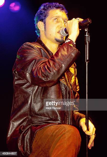 Layne Staley of American rock band Alice in Chains on stage in 1993