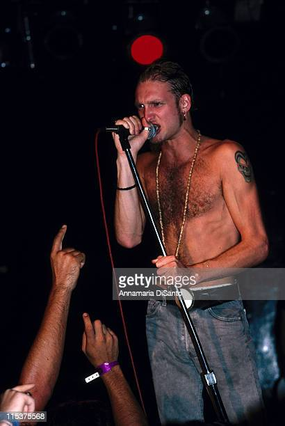 Layne Staley singer of Alice in Chains during Alice in Chains Live at the Whisky a Go Go at Whisky a Go Go in West Hollywood California United States