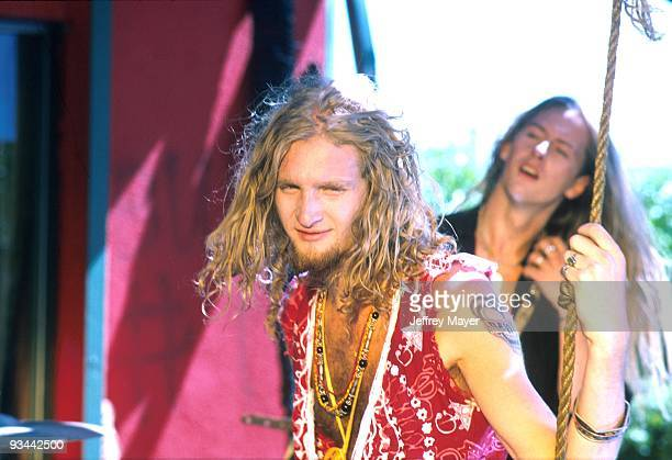 Layne Staley with Alice in Chains during filming of one of their videos in Los Angeles CA August 1990