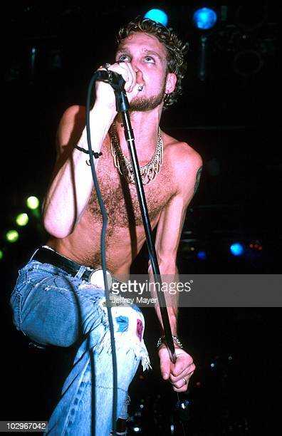 Layne Staley with Alice in Chains performing in Los Angeles CA October 1991