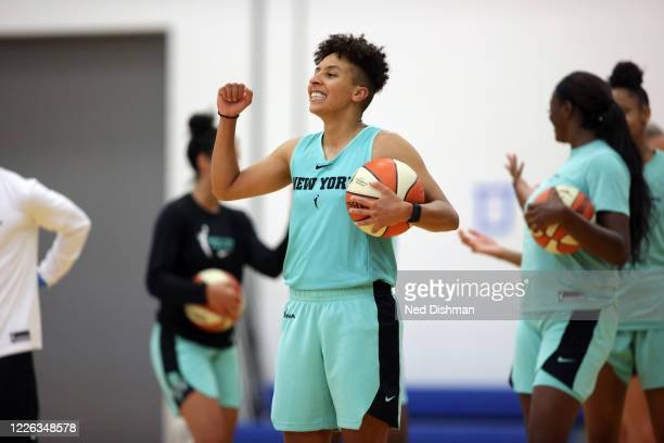 Layshia Clarendon of the New York Liberty during practice on July 11, 2020 at IMG Academy in Bradenton, Florida. NOTE TO USER: User expressly...
