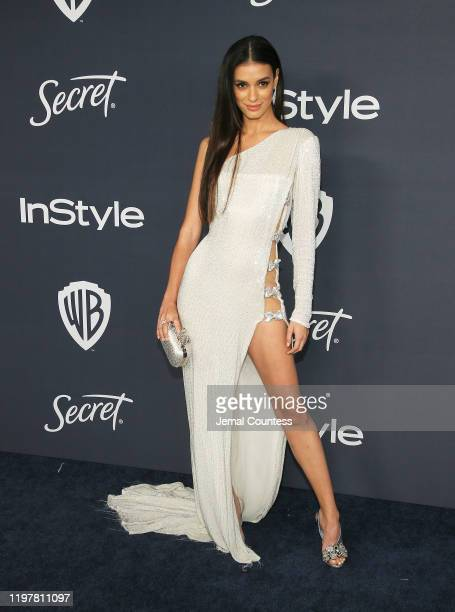 Laysla De Oliveira attends the 21st Annual Warner Bros. And InStyle Golden Globe After Party at The Beverly Hilton Hotel on January 05, 2020 in...