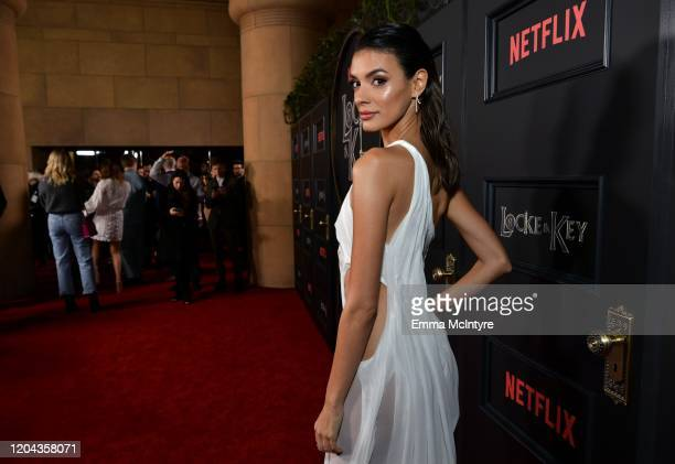 Laysla De Oliveira attends the Locke Key Los Angeles Premiere at the Egyptian Theatre on February 05 2020 in Hollywood California