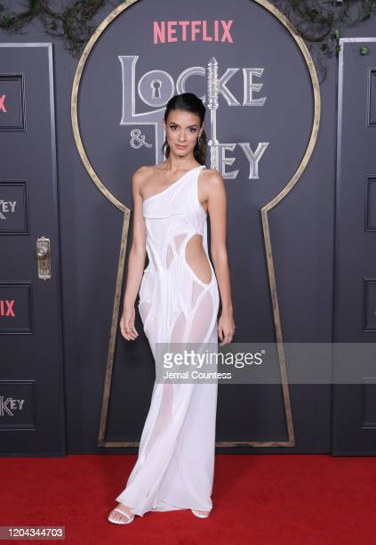 Laysla De Oliveira attends the Locke Key series premiere photo call at the Egyptian Theatre on February 05 2020 in Hollywood California