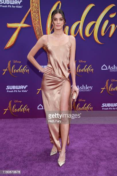 """Laysla de Oliveira attends the premiere of Disney's """"Aladdin"""" on May 21, 2019 in Los Angeles, California."""