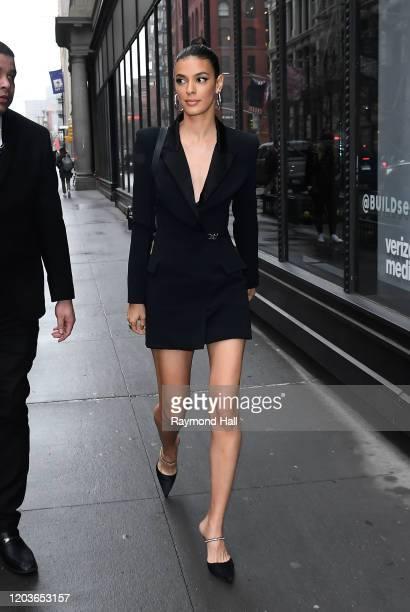 Laysla De Oliveira outside Build Studio on February 26, 2020 in New York City.