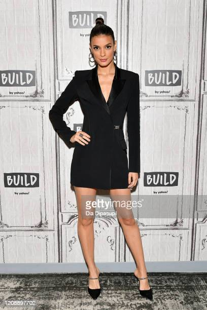 """Laysla De Oliveira visits the Build Series to discuss """"Locke & Key"""" at Build Studio on February 26, 2020 in New York City."""