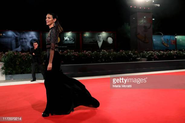 """Laysla De Oliveira walks the red carpet ahead of the """"Guest of Honour"""" screening during the 76th Venice Film Festival at Sala Grande on September 03,..."""