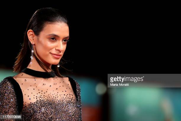 Laysla De Oliveira walks the red carpet ahead of the Guest of Honour screening during the 76th Venice Film Festival at Sala Grande on September 03...