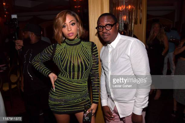 Layton Greene and Motown Records GM Marc Byers are seen as Motown Records and Quality Control Music celebrate Black Excellence at Delilah on June 23...