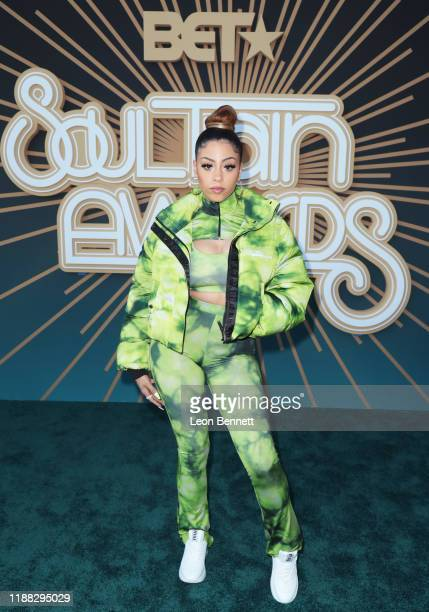 Layton Greene attends the 2019 Soul Train Awards presented by BET at the Orleans Arena on November 17 2019 in Las Vegas Nevada