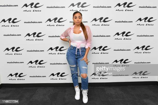 Layton Greene visits Music Choice on August 15 2019 in New York City