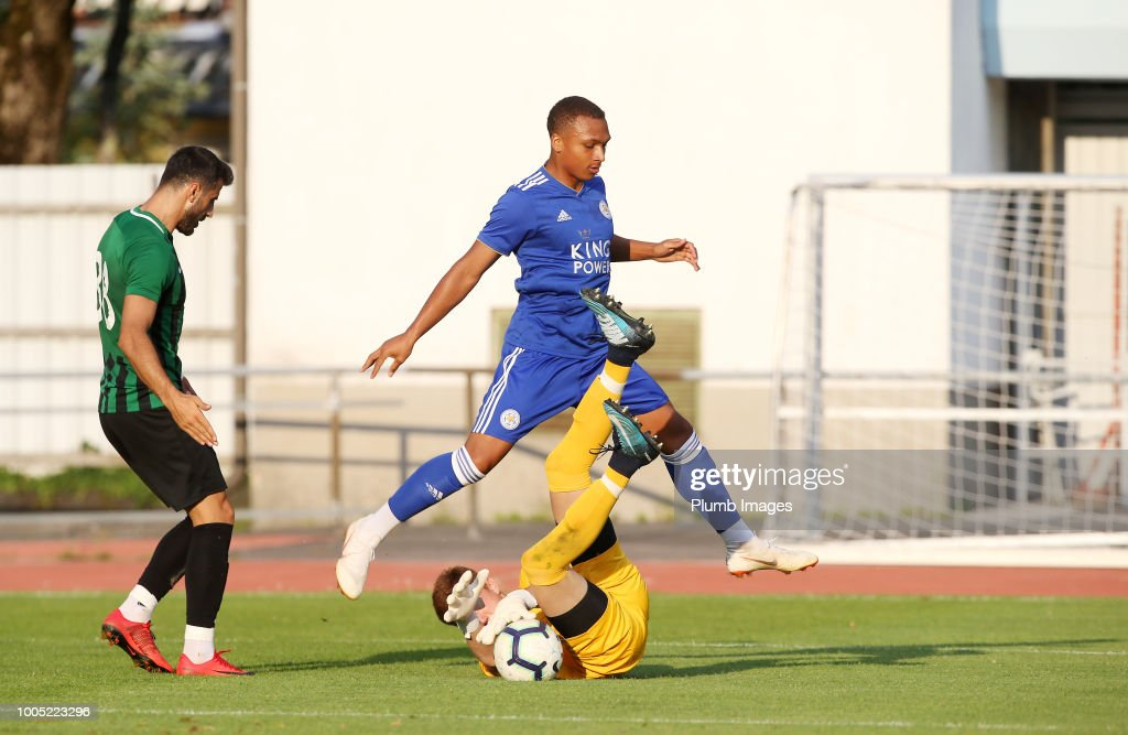 Layton Ndukwu of Leicester City in action during the pre-season friendly match between Leicester City and Akhisarspor at Stadion Villach on July 25th, 2018 in Villach, Austria.