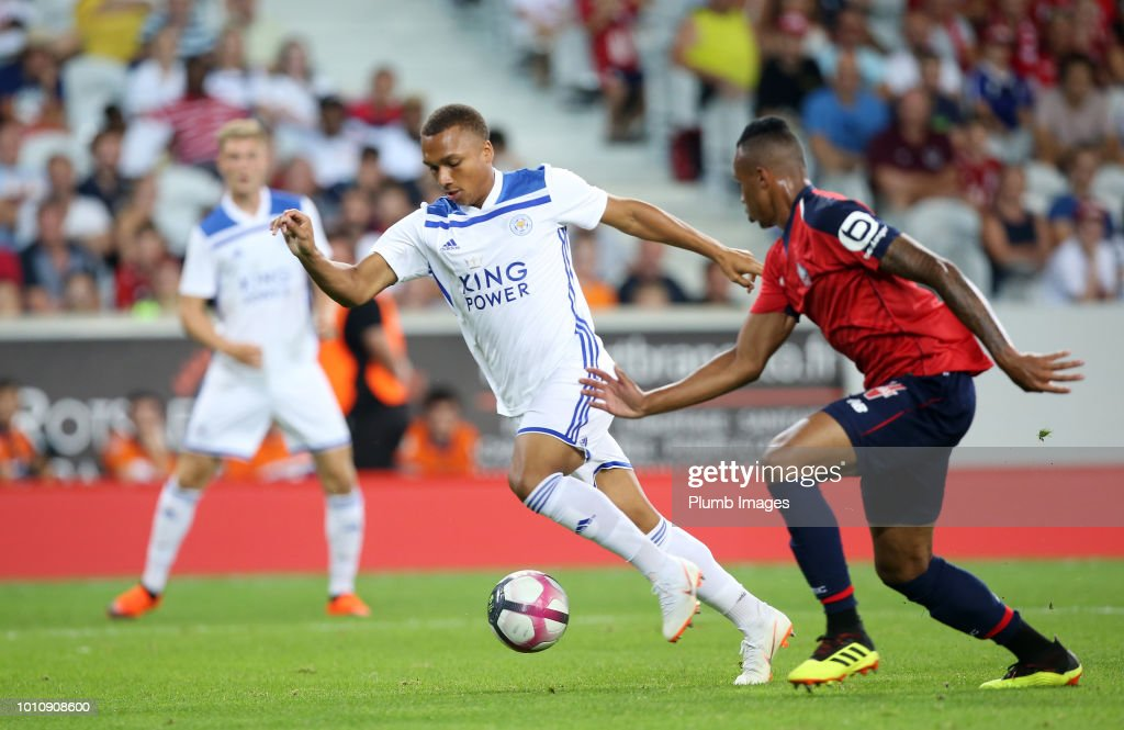 Layton Ndukwu of Leicester City in action during the pre-season friendly match between Lille and Leicester City at Stade Pierre Mauroy on August 4, 2018 in Lille, France.