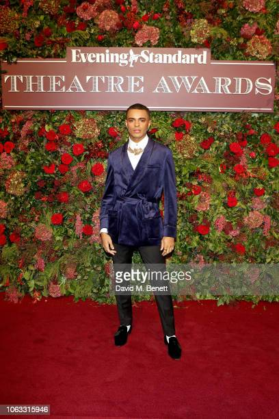 Layton Williams arrives at The 64th Evening Standard Theatre Awards at the Theatre Royal Drury Lane on November 18 2018 in London England