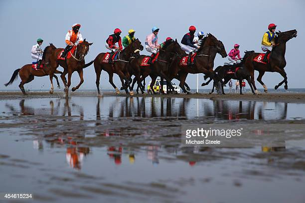 Laytown races held once a year and first raced in1868 occupies a unique position in the Irish racing calendar as it is the only race event run on a...