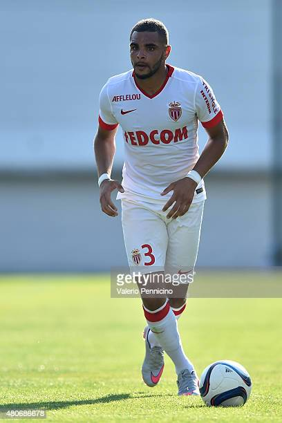 Layvin Kurzawa of AS Monaco in action during the preseason friendly match between Queens Park Rangers and AS Monaco on July 14 2015 in Chatillon Italy