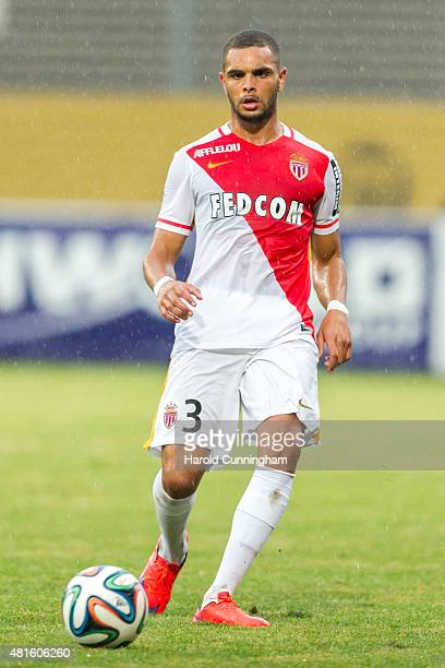 Layvin Kurzawa of AS Monaco in action during the preseason friendly match between 1 FSV Mainz 05 and AS Monaco at Stade des Arberes on July 22 2015...