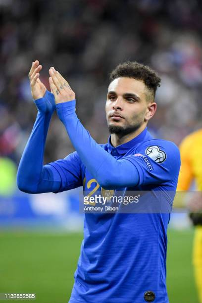 Layvin Kurzawa of France celebrates the victory during the Qualifying European Championship 2020 match between France and Iceland at Stade de France...