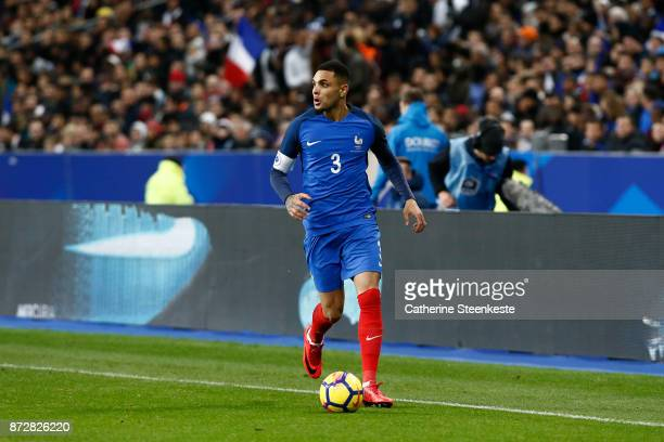 Layvin Kurzawa of France controls the ball during the international friendly match between France and Wales at Stade de France on November 10 2017 in...