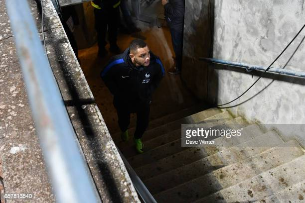 Layvin Kurzawa of France during the FIFA World Cup 2018 qualifying match between Luxembourg and France on March 25 2017 in Luxembourg Luxembourg