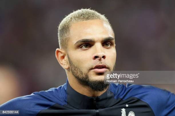 Layvin Kurzawa of France looks on beofre the FIFA 2018 World Cup Qualifier between France and Luxembourg at Stadium on September 3 2017 in Toulouse...