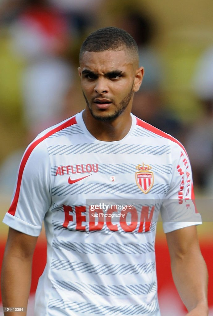Layvin Kurzawa of Monaco warms up prior to the French Ligue 1 match between AS Monaco FC and LOSC Lille at Louis II Stadium on August 30, 2014 in Monaco, Monaco.