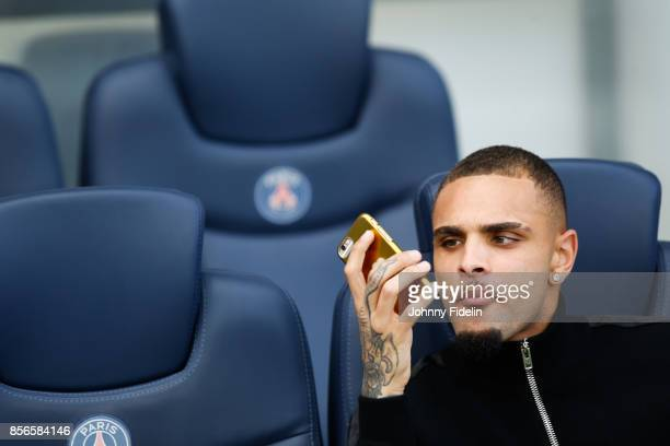 Layvin Kurzawa of Paris Saint Germain during the Ligue 1 match between Paris Saint Germain and FC Girondins de Bordeaux at Parc des Princes on...