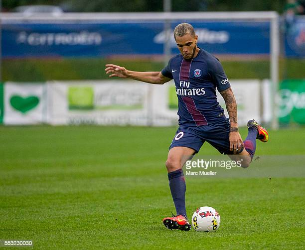 Layvin kurzawa of Paris St Germain seen during a friendly match against West Bromwich Albion on July 13 2016 in Schladming Austria