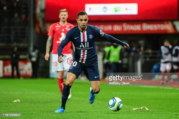 Layvin KURZAWA of PSG during the Ligue 1 match between Brest and Paris Saint Germain at Stade FrancisLe Ble on November 9 2019 in Brest France