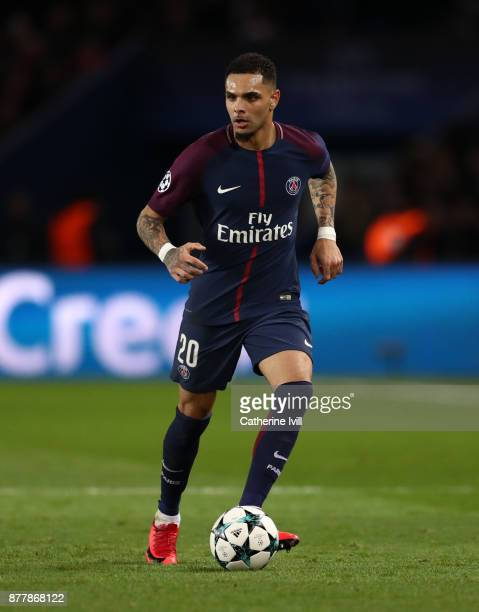 Layvin Kurzawa of PSG during the UEFA Champions League group B match between Paris SaintGermain and Celtic FC at Parc des Princes on November 22 2017...