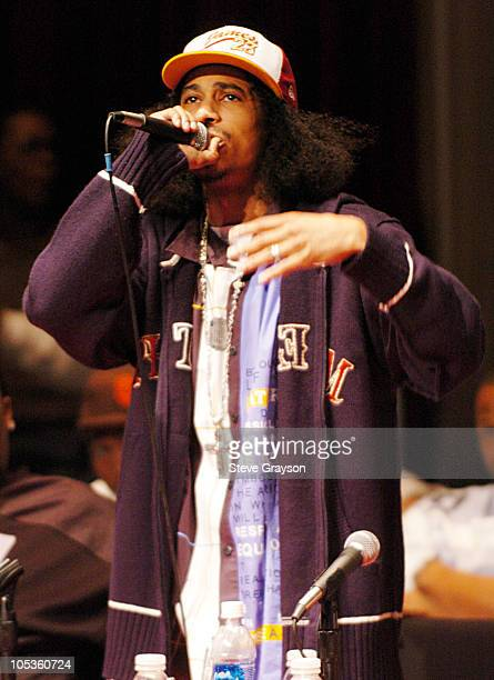 Layzie Bone during The Los Angeles 2004 HipHop Network Summit at Bovard Auditorium in Los Angeles California United States