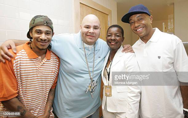 Layzie Bone Fat Joe Mayor Shirley Gibson and Russell Simmons **EXCLUSIVE**