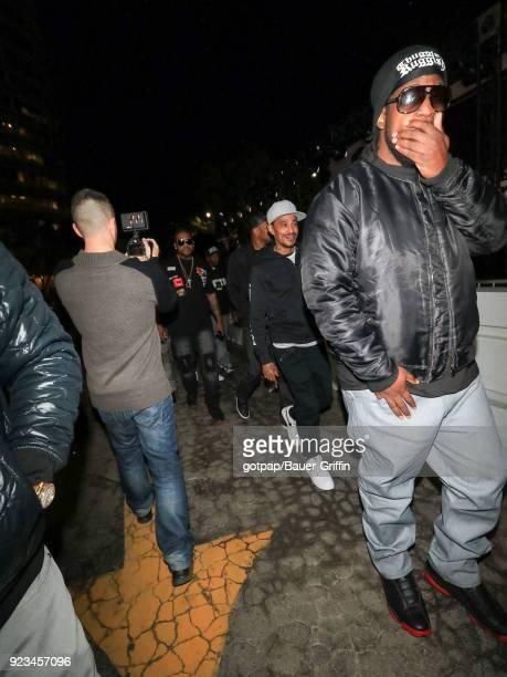 Layzie Bone of music band 'Bone ThugsnHarmony' is seen on February 22 2018 in Los Angeles California