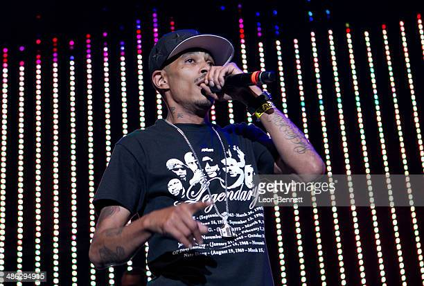 Layzie Bone performed during the 935 KDAY Presents Krush Groove 2014 at The Forum on April 19 2014 in Inglewood California