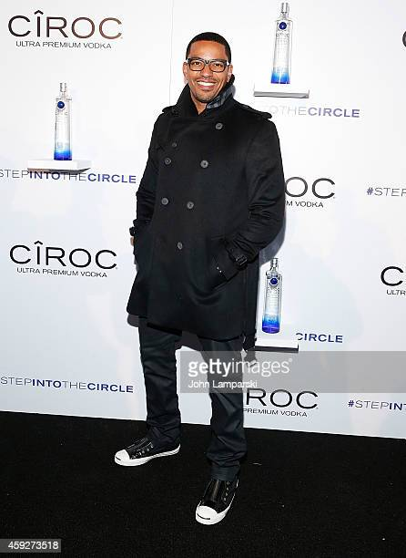 Laz Alonso attends Sean Diddy Combs Step Into The Circle Times Square Takeover at Times Square on November 19 2014 in New York City