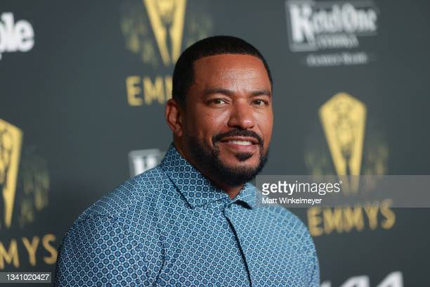 Laz Alonso attends the Television Academy's Reception to Honor 73rd Emmy Award Nominees at Television Academy on September 17, 2021 in Los Angeles,...