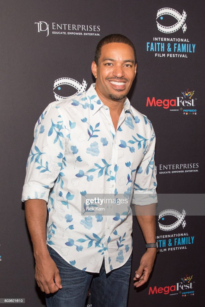 Laz Alonso poses before the MegaFest Leading Men In Hollywood Panel at the Omni Hotel on June 29, 2017 in Dallas, Texas.