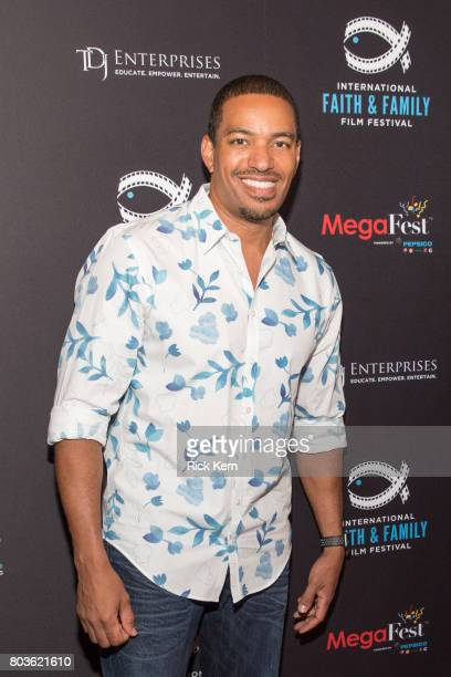Laz Alonso poses before the MegaFest Leading Men In Hollywood Panel at the Omni Hotel on June 29 2017 in Dallas Texas